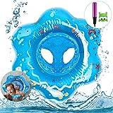 Magicfun Bébé Siège de Piscine, Anneau de Natation Enfant Bague De Natation Flottante Bouée Siège Gonflable pour Bébé pour 3-48 Mois PVC Matériel Sécurité(Bleu)
