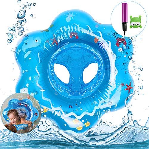 Anello di Nuoto Bambini, Bebè Salvagente Sicurezza Gonfiabile per Piscina Nuoto Anello con Sedile Ideale per Bambini da 3-48 Mesi (Blu)