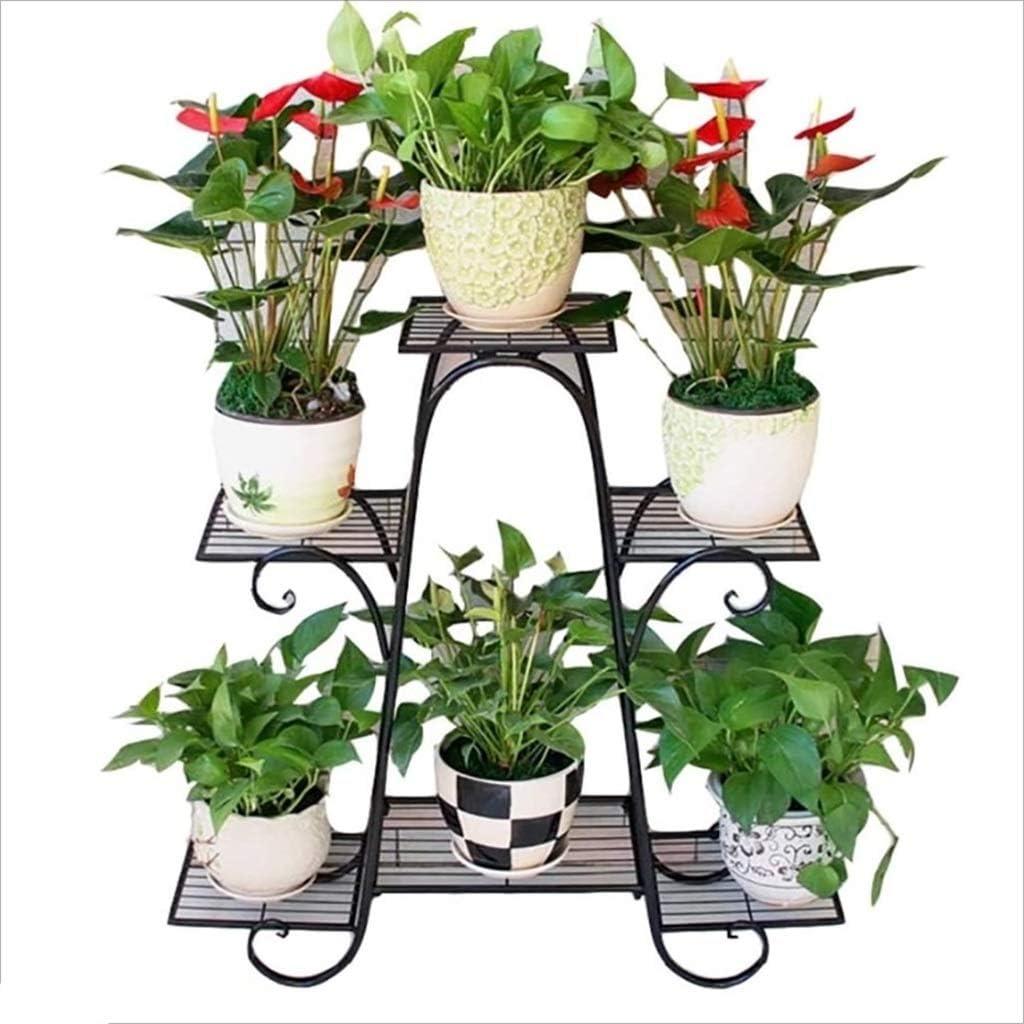 CALRM Size : 82CM Size : 62CM Porte plantes fer forge /Étag/ère De Fleur Porte Plante En Bois Int/érieur Droit Support De Fleurs Jardin R/étro Pr/ésentoir De Plantes