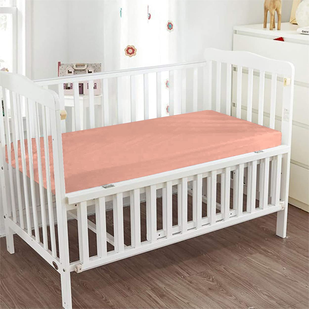Silver Cotton Many popular brands - Fitted Crib Sheet Color Egyptian Solid Co Max 51% OFF 100%