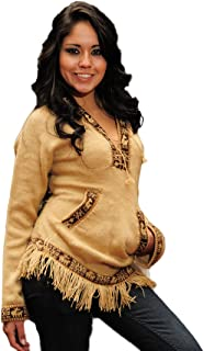 Gamboa - Alpaca Hooded Sweater for Women - Stylish Alpaca Hoodie - Light Brown