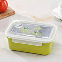 WZHZJ Insulated Bento Lunch Box with Portable Utensils,Sealed Compartment Leakproof Stainless Steel Lunch Container for Ki...