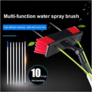 太陽光発電パネルクリーニングウィンドウ5 M〜12 Mの水供給式伸縮ブラシクリーナーコンサバトリールーフクリーニングツール(30 Cmブラシヘッド),10M