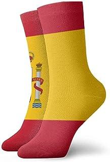tyui7, Bandera de España Calcetines de compresión antideslizantes Cosy Athletic 30cm Crew Calcetines para hombres, mujeres, niños
