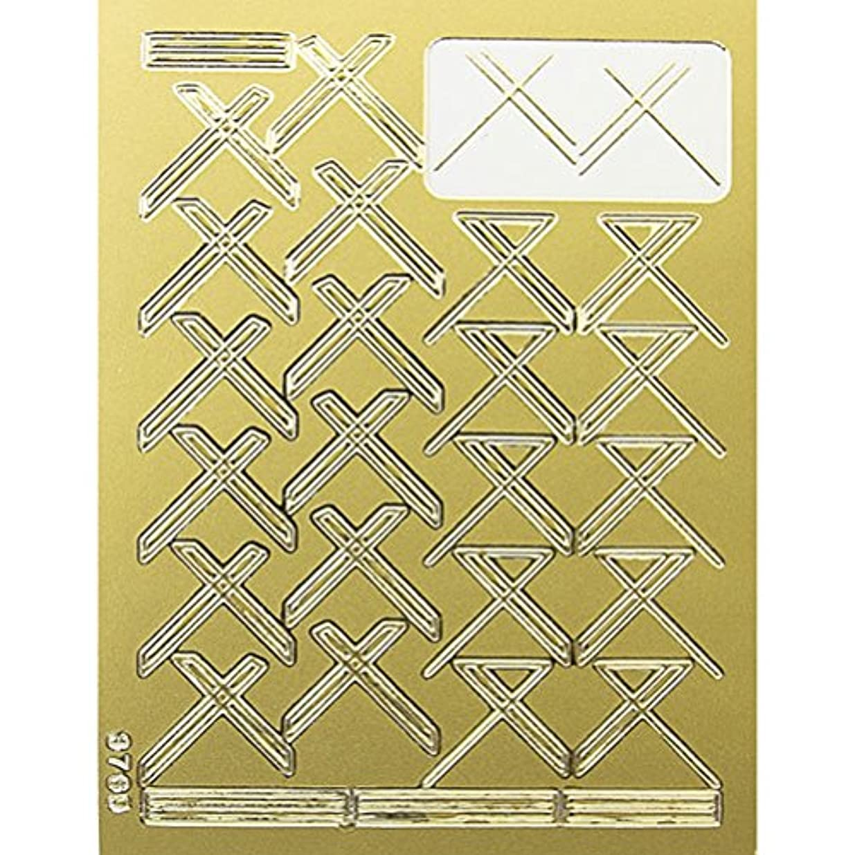 フライト大使館乳白ネイルエンボスシール ゴールドクロス 590-1001