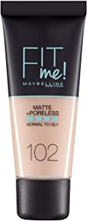 maybelline fit me matte and poreless foundation102 fair ivory 30ml