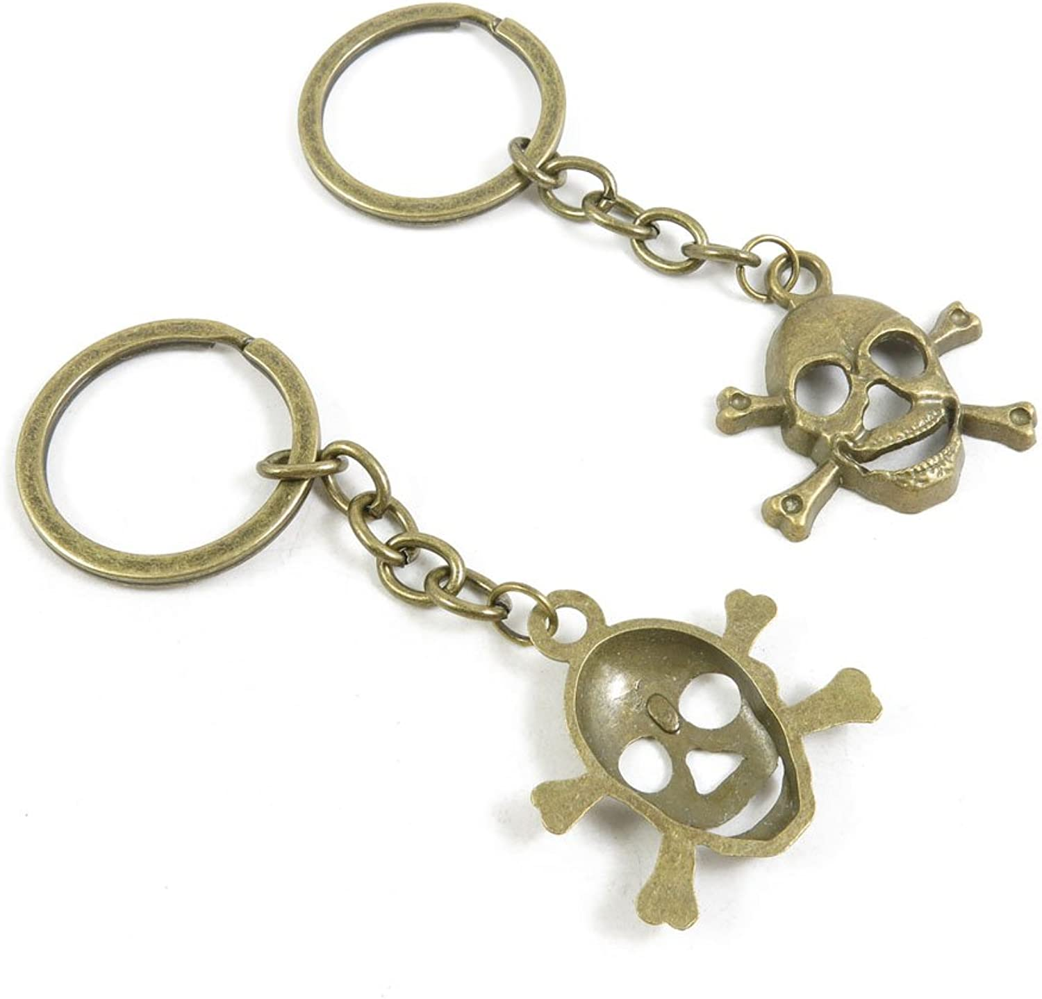 170 Pieces Fashion Jewelry Keyring Keychain Door Car Key Tag Ring Chain Supplier Supply Wholesale Bulk Lots P5CI7 Skull
