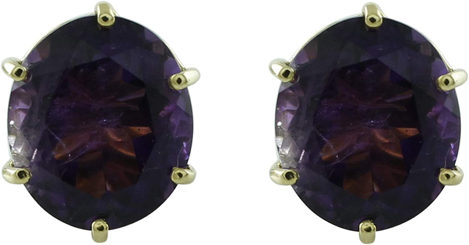 Carillon Amethyst Natural Cheap mail order sales Gemstone Oval E Shape Bombing free shipping Stud Anniversary