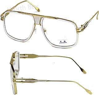 1064db0e8308 DMC Retro Vintage Gazelle Clear Lens Frame Eyeglasses Fashion Oversized Hip  Hop