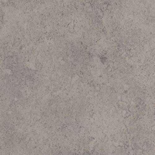 BODENMEISTER BM70517 Vinylboden PVC Bodenbelag Meterware 200, 300, 400 cm breit, Steinoptik Betonoptik hell-grau