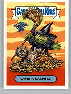 2018 Topps Garbage Pail Kids Oh The Horror-ible Classic Film Monster Stickers A #15A WICKED WANDA Peelable Collectible Trading Sticker Card
