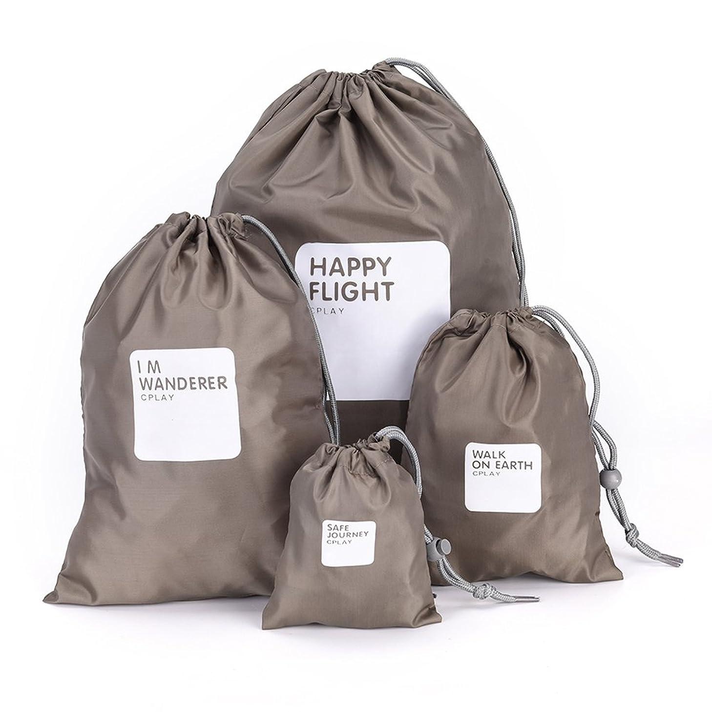 Rakuby 防水バッグ 4点/セット 防水バッグ 収納袋 軽量防水ナイロン 大容量 旅行袋 超軽量 荷物袋 折りたたみ 巾着ポーチ アウトドア ドライサック キャンプ用 ハイキング 服クラシファイド シューズ