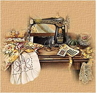 5D Diamond Painting Kits for Beginner Adults,Full Drill Diamond Painting Rhinestone Embroidery Cross Stitch Kit for Christmas Home Decor,(3030CM) Sewing Machine(474#)