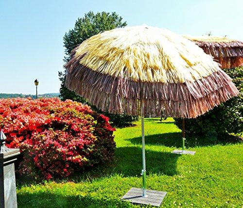 Maffei Art 7 Tulum, Sonnenschirm rund Durchmesser cm 200, mit Bast 3 Farben, Made in Italy