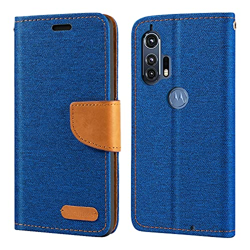 Motorola Moto Edge Plus Hülle, Oxford Leder Wallet Hülle mit Soft TPU Back Cover Magnet Flip Hülle für Motorola Moto Burton