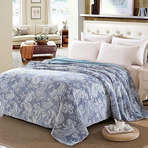 Global- Super tapis doux Coral tapis Climatisation couverture feuilles siesta couverture loisirs bureau de couverture Polyester couverture de lit (Couleur : #2, taille : 200 * 230cm)