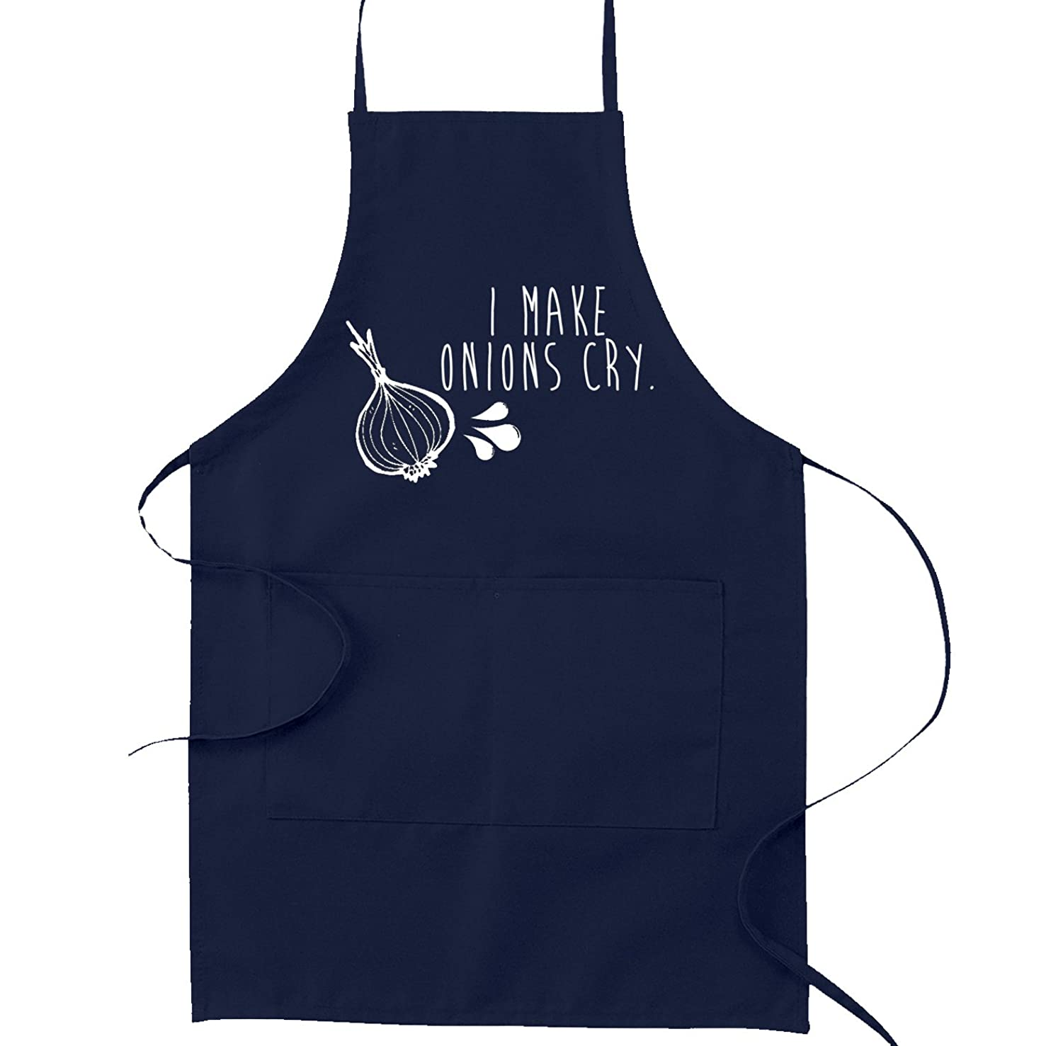 I Make Onions Cry Funny Parody Cooking Baking Kitchen Apron - Navy Blue