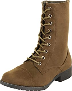 Cambridge Select Women's Lace-Up Classic 90s Chunky Lug Sole Combat Boot