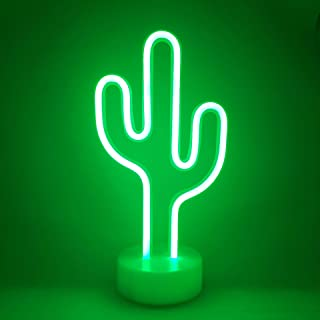 Neon Indoor Night Light, LoveNite Battery Operated Glowing Neon Decorative Sign LED Light for Room Party Festival Decorations (Green)
