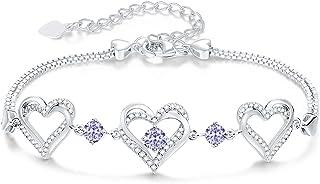 CDE Forever Love Heart Birthstone Bracelet for Women 925...