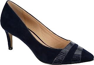 Sponsored Ad - Lauren Blakwell Sidney - Women's Slip On Faux Suede Pointed Closed Toe Short Heel Pump Sandal