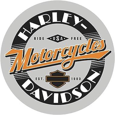 Harley-Davidson Ride Free Round Cafe Table, Durable Steel Base - Black HDL-12332