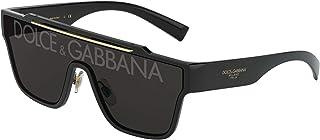 Dolce & Gabbana Occhiali da Sole Uomo DG6125 501/M Nero/Grigio Scuro 35
