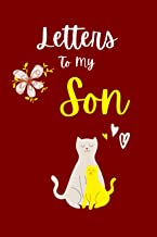 """Letters to My Son: 6"""" x 9"""" 110 Pages Blank Lined Journal Notebook for Moms, Fathers and Cat Lovers (Red Cover)"""