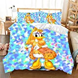 Uvvseso® Textiles para el hogar 3D 200 x 200 cm Juego de sábanas Estampadas Juegos de Fundas nórdicas de Dibujos Animados de algodón para niños Twin Full Queen King + 2 Fundas de Almohada 50 X 75 cm