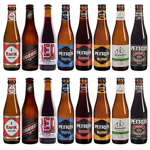 Pack de Cata 16 cervezas belgas Petrus | Brouwerij de Brabandere | Incluye Red by Petrus, medalla de plata en los WORLD BEER AWARDS 2020