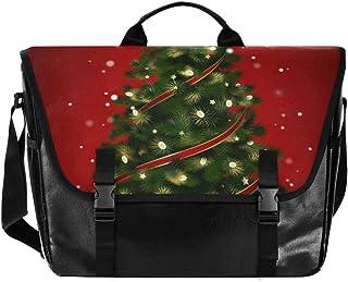 Bolsa de lona para hombre y mujer, diseño de estrella de árbol de Navidad, ideal para iPad, Kindle, Samsung