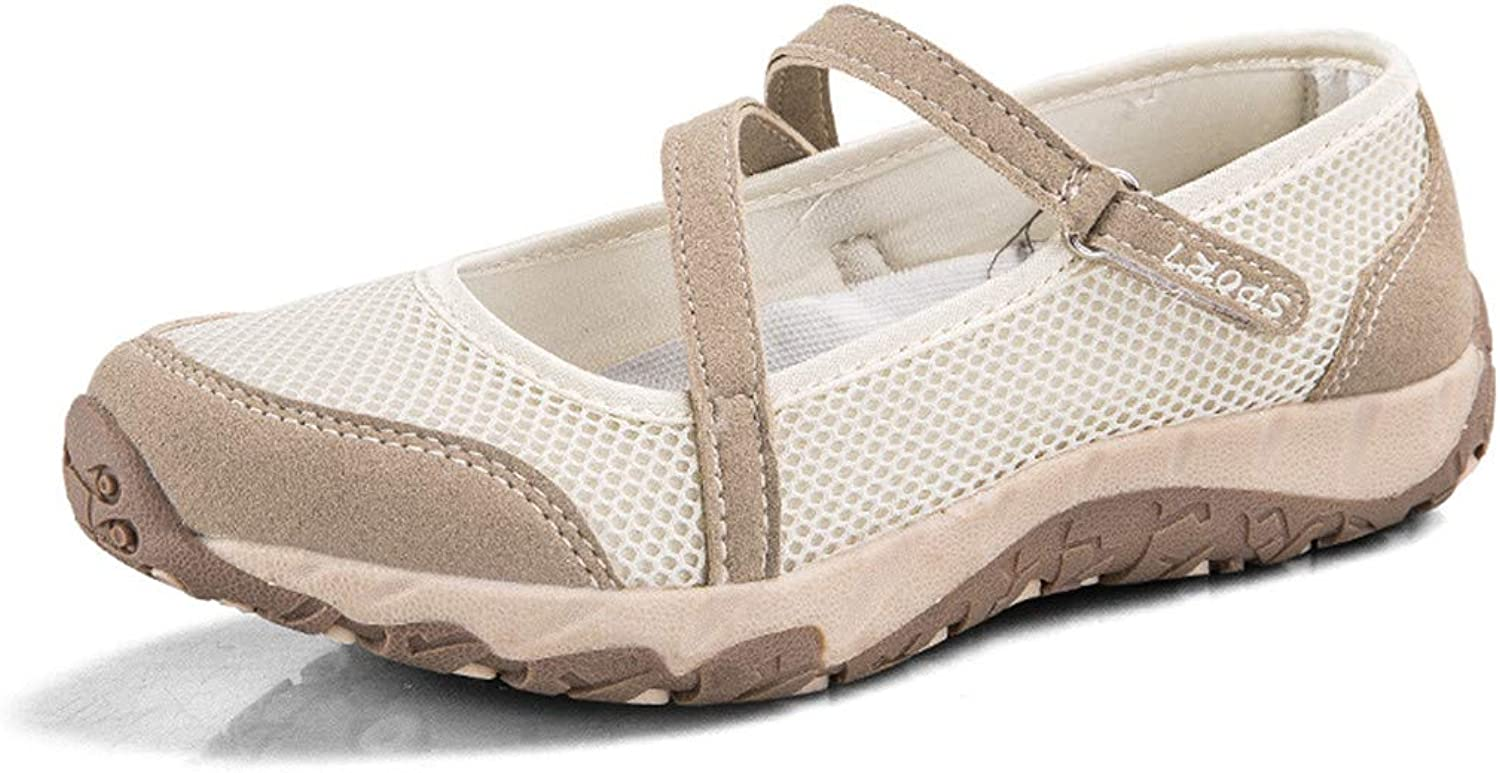 Women Sneakers Breathable Mesh Sneakers Non-Slip Rubber shoes Mother Flats