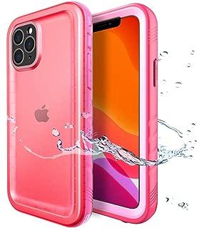SPORTLINK Funda impermeable para iPhone 11 Pro MAX con protector de pantalla integrado, cubierta resistente sumergida de cuerpo completo sellada para iPhone 11 Pro MAX 2019 lanzada en 6.5 pulgadas (rosa)