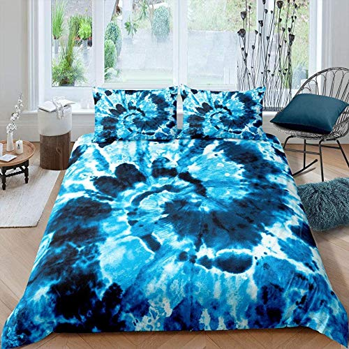 Bxooaceo bedding sets single twin size Super King size 260 x 220 cm duvet cover girl kids bed linens 3d cartoon home textiles+2 Pillowcase 50 X 75 cm Soft Hypoallergenic Brushed Microfibre Boho blue