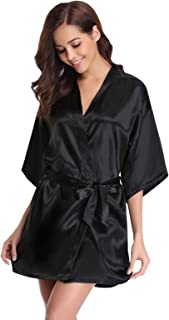revendeur 0395c 84e56 Amazon.fr : Peignoir Satin Noir : Vêtements