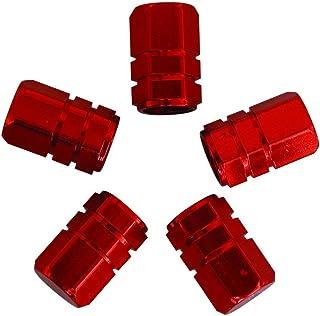 Lot de 2 bouchons de valve /à LED pour roue de v/élo Rouge