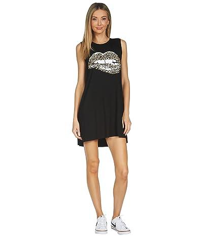 Lauren Moshi Deanna Leopard Lip Sleeveless Dress