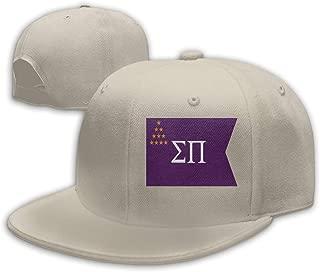 Adjustable Sports Plain Baseball Cap, Flag of Sigma Pi Solid Twill Hat, Unisex