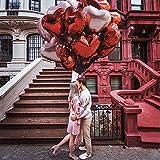 ORSIFOW Herz Folienballon Rosegold   Rot, 20 Stück Herz Helium Luftballons, Hochzeit Folienballon, Herz Ballons für Geburtstag, Brautdusche, Valentinstag   Inklusive 2 Bänder