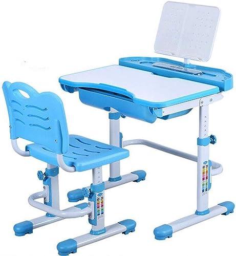 genuina alta calidad QKDSA Silla de Escritorio para para para Niños Ajustable en Altura Escritorio para Niños Escritorio multifunción elevar escritorios y sillas de Estudiantes con lámpara (azul) ( Color   azul1 )  venta al por mayor barato