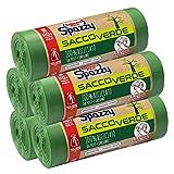Domopak Spazzy Sacchi Nettezza Saccoverde Avvolgi & Chiudi 100% Riciclato Da Post-Consumo - Condominiale 110 Lt - Verde - 5 Confezioni Da 10 Pezzi