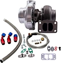 maXpeedingrods T70 57 TRIM A/R.70 .82 STAGE III 500+HP TURBO CHARGER+OIL FEED+DRAIN LINE