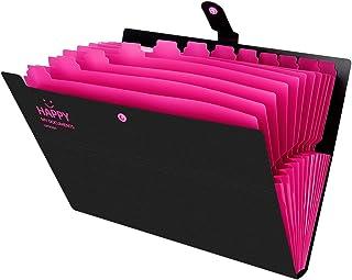 Trieur 12 Compartiments A4 Chemise Papier Classeur Rangement Administratif Document Porte Dossier Bureau pour Bureau,Maiso...