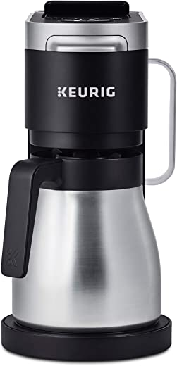 Keurig K-Duo Plus Coffee Maker, Single Serve and 12-Cup Carafe Drip Coffee Brewer, Compatible with K-Cup Pods and Ground Coffee, Black