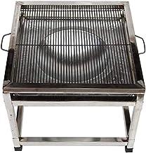 Parrilla de acero inoxidable al aire libre parrilla de mesa al aire libre desmontable para más de 5 personas horno de carbón comercial