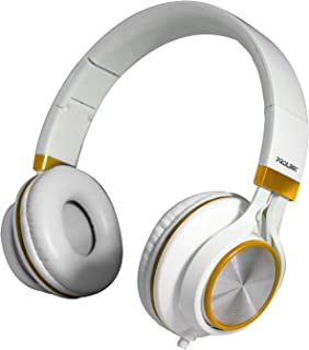 PROLiNK PHC1002E-White Gold Stereo Headset with Microphone Foldable Headband
