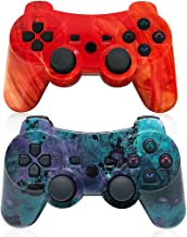 PS3 Wireless Controller Dual Vibration Gamepad for Playstation 3 Six-axis Gaming Joystick, up to 10m Remote Control, Suppo...