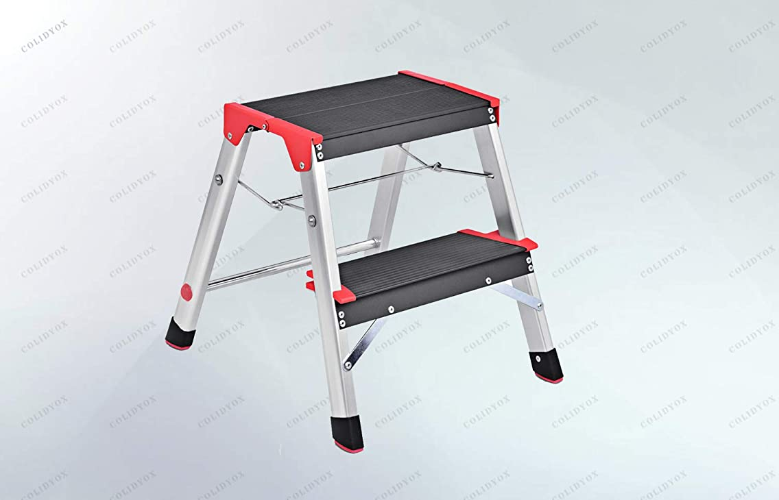 COLIDYOX>>>2 Step Aluminum Lightweight Ladder This is Our Foldable Two Steps Aluminum Ladder, which is Ideal for Any Task Around The Kitchen, Office, Bathroom, and Garage.Gripped Tread on Steps