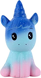 Anboor 4.9 Inches Squishies Unicorn Galaxy Kawaii Soft Slow Rising Scented Animal Squishies Stress Relief Kids Toys (Galaxy)