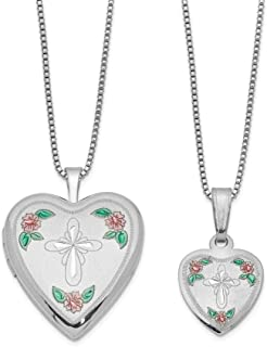 xinpeng Living Memory Floating Charm Round Heart Teardrop Square Oval Cross Locket Tourmaline Necklace Pendant Crystal Clear Glass Magnetic Closure